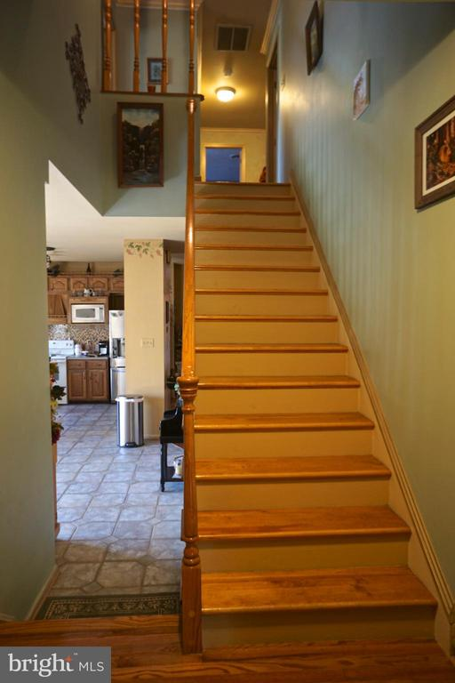 Stairs by the kitchen - 3970 PANHANDLE RD, FRONT ROYAL