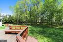 Rear Deck/Yard - 6201 POINDEXTER LN, NORTH BETHESDA