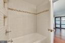 Master bathroom with gorgeous tilework - 658 15TH ST S #A, ARLINGTON