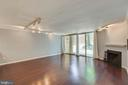 Wide OPEN living room area w/ fireplace - 658 15TH ST S #A, ARLINGTON