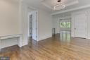 Open den with dual built-in desks - 3036 N POLLARD ST N, ARLINGTON