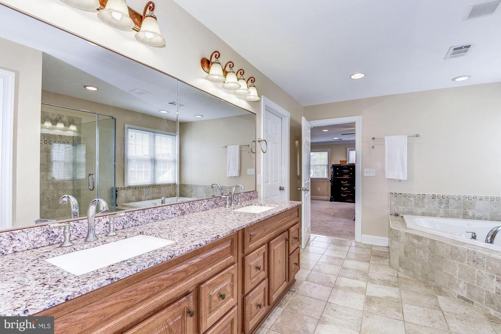 Master bathroom dual granite sinks - 43345 NICKLAUS LN, CHANTILLY