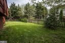 Fenced, level rear yard - 43345 NICKLAUS LN, CHANTILLY