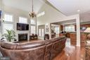 Wall of windows in family room/ great room - 43345 NICKLAUS LN, CHANTILLY