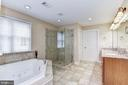 Master bathroom and two huge walk-in closets - 43345 NICKLAUS LN, CHANTILLY