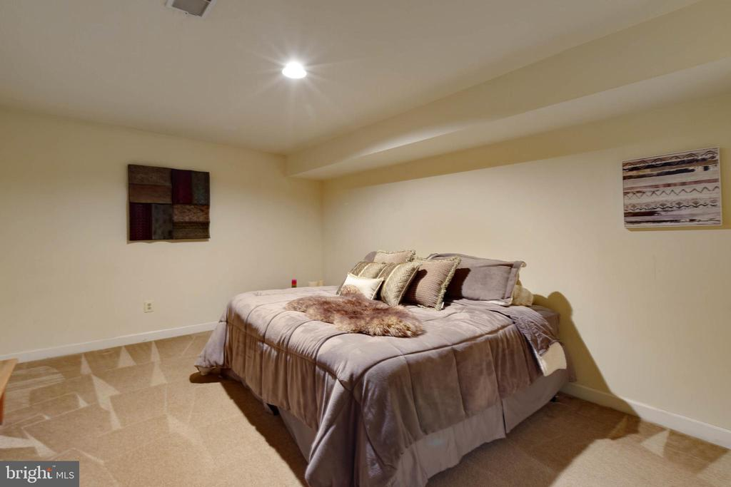 Lower Level Bedroom with Window - 8237 GALLERY CT, MONTGOMERY VILLAGE