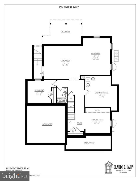 Lower Level Floor Plan - 9514 FOREST RD, BETHESDA