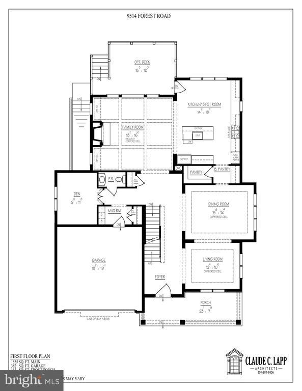 Main Level Floor Plan - 9514 FOREST RD, BETHESDA