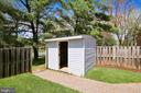 Storage shed with new roof and flooring - 9130 BOBWHITE CIR, GAITHERSBURG