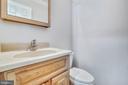Main level powder room - 9130 BOBWHITE CIR, GAITHERSBURG