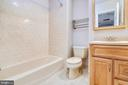 Upper level hall bath - 9130 BOBWHITE CIR, GAITHERSBURG