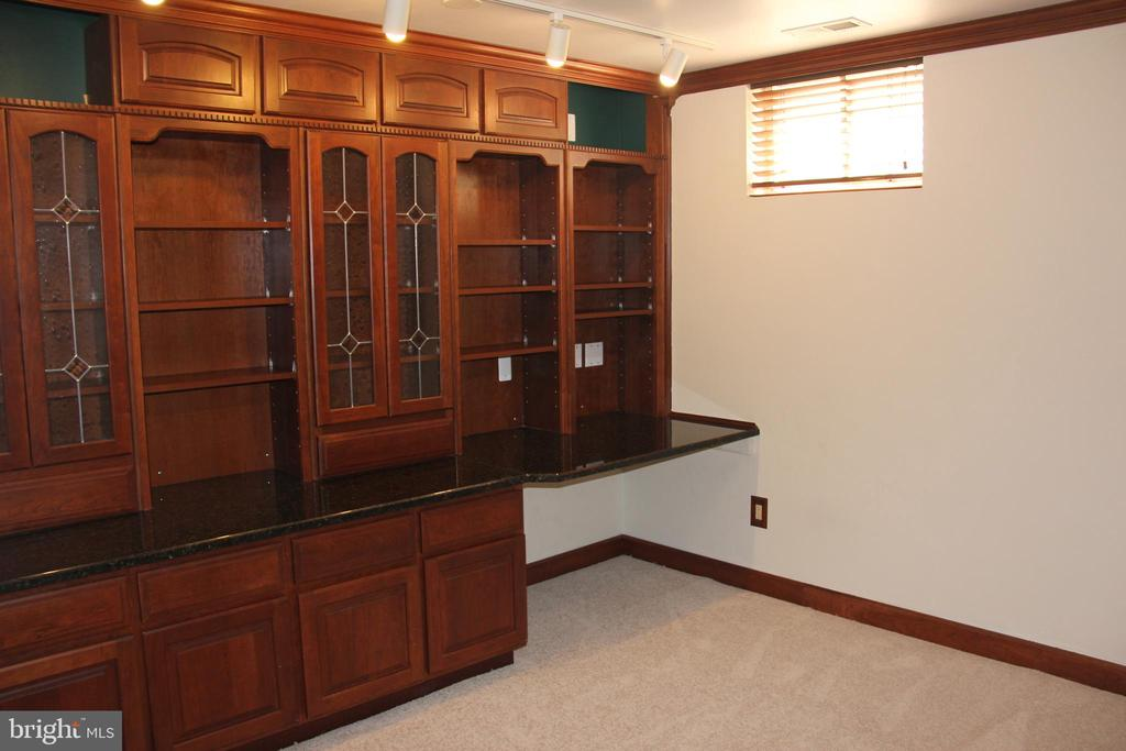 lower level den with built-ins - 47177 TIMBERLAND PL, POTOMAC FALLS