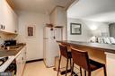 Kitchen with breakfast bar - 1301 20TH ST NW #201, WASHINGTON
