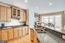 Kitchen with Granite Counters - 5209 LINDEN DR, FREDERICKSBURG