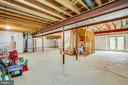 Full unfinished basement with walkup - 5209 LINDEN DR, FREDERICKSBURG