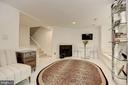 Living Room with Wood Burning Fireplace - 1124 25TH ST NW #T2, WASHINGTON