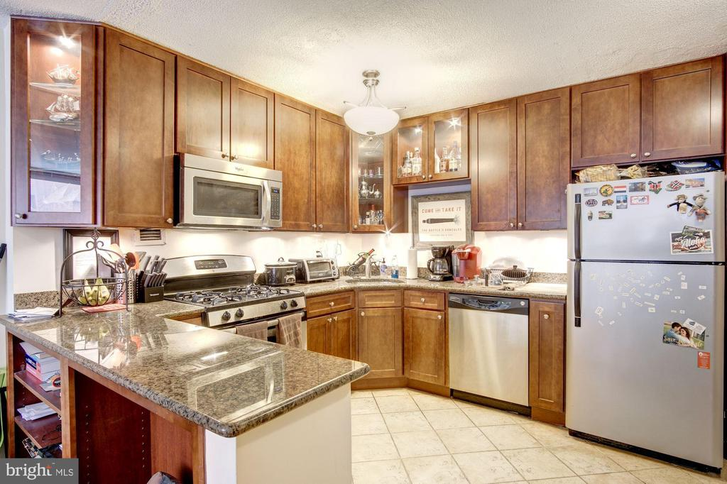 Updated Kitchen with Breakfast Bar - 1301 20TH ST NW #211, WASHINGTON