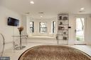 Living Room with custom window seat - 1124 25TH ST NW #T2, WASHINGTON