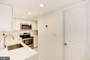Kitchen w/Stainless Steel Appliances - 1124 25TH ST NW #T2, WASHINGTON