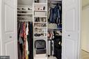 2nd B/R closet w/custom Organizers - 1124 25TH ST NW #T2, WASHINGTON