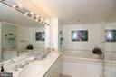 Mstr Bath. 2 Sinks.Whirlpool Tub/Stall Shower. - 5809 NICHOLSON LN #201, NORTH BETHESDA