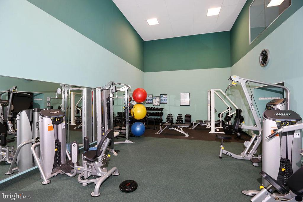 Well Equipped Weight Room! - 5809 NICHOLSON LN #201, NORTH BETHESDA