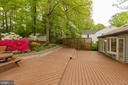 Rear of home deck and yard - 9327 TOVITO DR, FAIRFAX