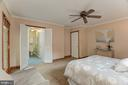 Master bedroom into bathroom - 9327 TOVITO DR, FAIRFAX