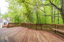 Deck backs to trees. - 9364 TOVITO DR, FAIRFAX