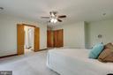 Two walk-in closets in en-suite bathroom - 11220 HANDLEBAR RD, RESTON