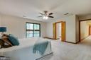Beautiful views in spacious master bedroom - 11220 HANDLEBAR RD, RESTON