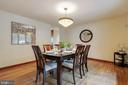 Spacious dining room off kitchen - 11220 HANDLEBAR RD, RESTON