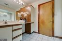 Hall bath with one vanity in common area - 11220 HANDLEBAR RD, RESTON