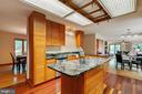Open concept; custom Conestoga cabinetry - 11220 HANDLEBAR RD, RESTON
