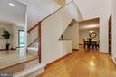 Impressive 2-story foyer and mahogany door - 11220 HANDLEBAR RD, RESTON