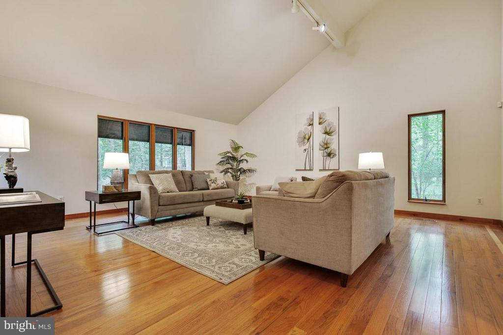 Expansive 22 x 22 sqft living room - 11220 HANDLEBAR RD, RESTON
