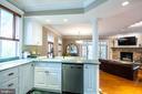 Open kitchen to family room. - 16 CORNWALL ST NE, LEESBURG