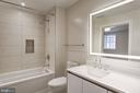 Porcelanosa bathroom with lighted mirror - 1745 N ST NW #312, WASHINGTON