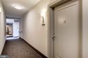 Hallway to door for #312 - 1745 N ST NW #312, WASHINGTON