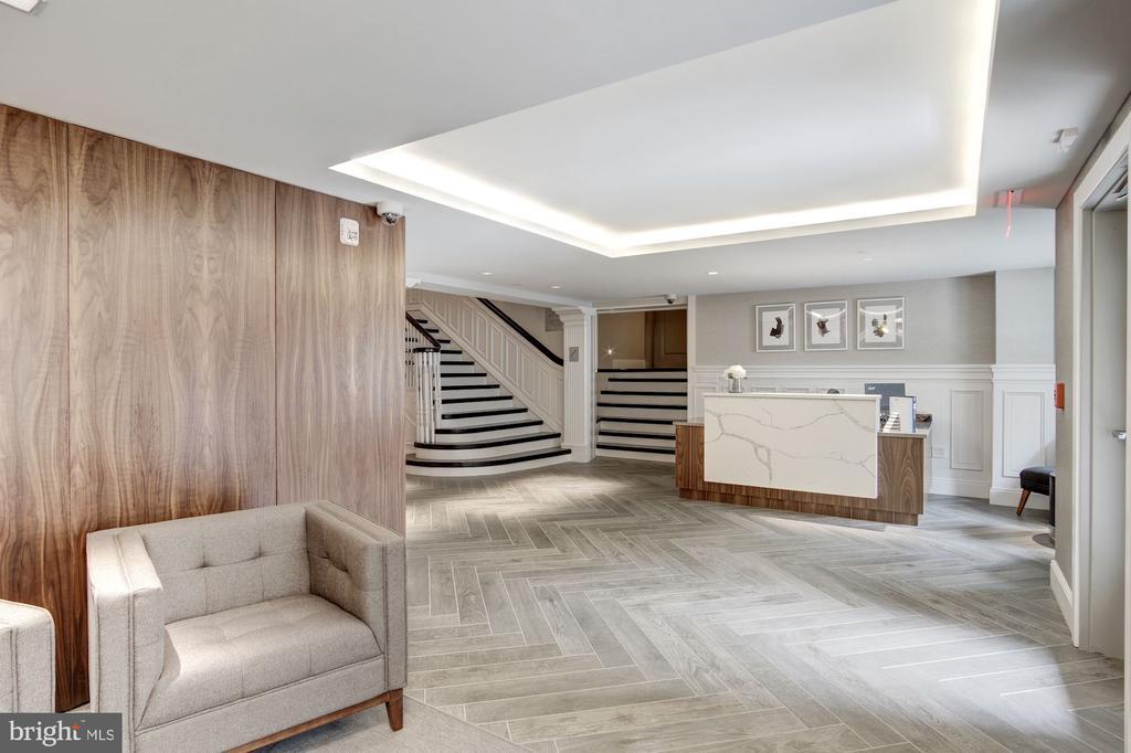 Concierge desk in lobby - 1745 N ST NW #312, WASHINGTON