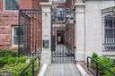 Iron gate entry, secure. - 1745 N ST NW #414, WASHINGTON