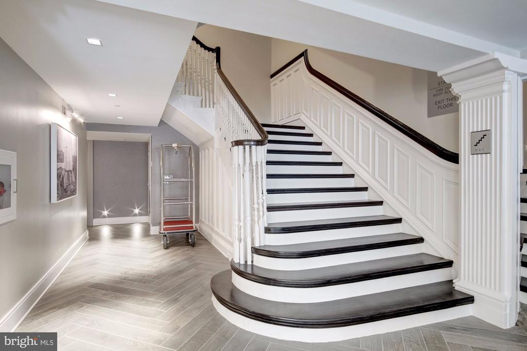 Historic stairwell in lobby (or take the elevator) - 1745 N ST NW #414, WASHINGTON
