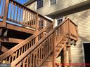 2 staircases off rear deck - 11810 HICKORY CREEK DR, FREDERICKSBURG