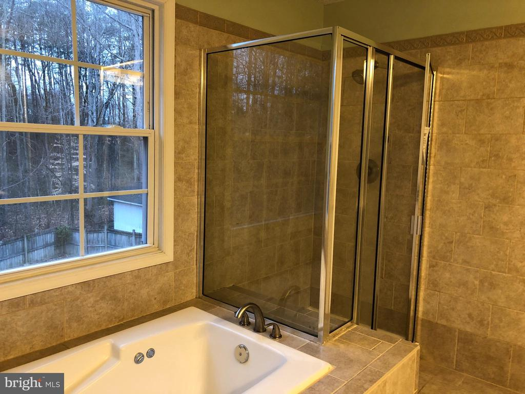 Tub and shower in Master Bath - 11810 HICKORY CREEK DR, FREDERICKSBURG