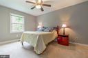 Bedroom 2 with updated lighting fixture - 12904 CHALKSTONE CT, FAIRFAX