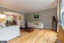 Spacious living adorned with crown molding - 12904 CHALKSTONE CT, FAIRFAX