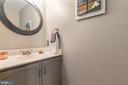 Main level powder room - 12904 CHALKSTONE CT, FAIRFAX