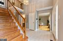 Lovely foyer greets your guests - 12904 CHALKSTONE CT, FAIRFAX