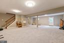 Open finished rec room: New Carpet! - 12904 CHALKSTONE CT, FAIRFAX