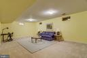 Huge lower level recreation room - 7428 SPRING SUMMIT RD, SPRINGFIELD